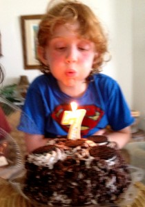 This is how I celebrated my 7th birthday.  Do you think everyone gets oreo cake on their birthday?